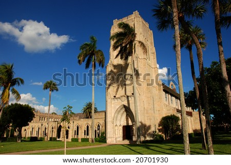 stock photo : Episcopal Church of Bethesda By The Sea in Palm Beach, Florida