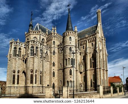 Episcopal Palace in Astorga, Spain