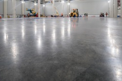 epoxy floor in warehouse factory japan