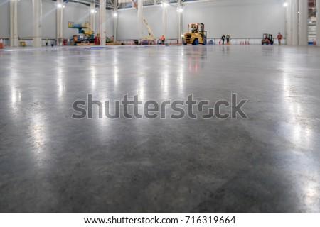 epoxy floor in warehouse factory japan