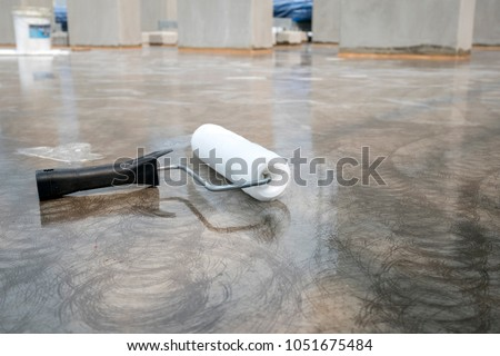 Epoxy flooring painting for water proof on roof slab