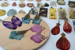 Epoxy resin jewelry. Lots of jewelry