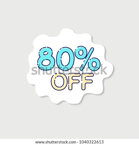 EPS10 Vector: Big Sale tags with Sale up to 80 percent text on tags #1040322613