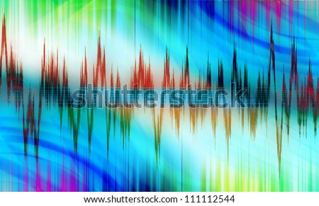 equalizer sound background theme; colorful wallpaper - stock photo