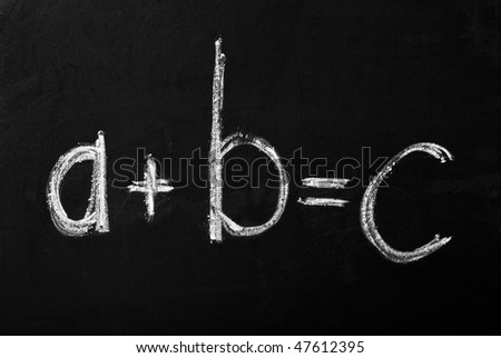 Equation on the blackboard