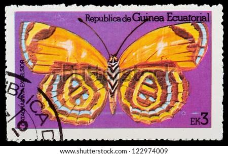 EQUATORIAL GUINEA - CIRCA 1972: stamp printed by Equatorial Guinea, shows Butterfly, circa 1972