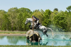 Equestrian Cross Country Water Jump