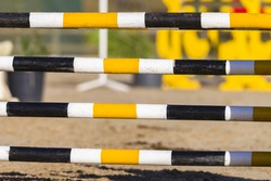 Equestrian Show Jumping Gate Equestrian show jumping gate poles in color