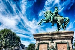 Equestrian Statue of Napoleon Bonaparte It was opened on August 15, 1865. Rouen, Normandy, France.