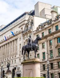 Equestrian statue of Wellington in London - England