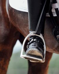 Equine dressage show stirrup details