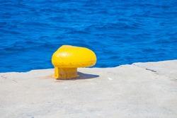 Equipment detail in harbor of Agios Nikolaos, Crete, Greece