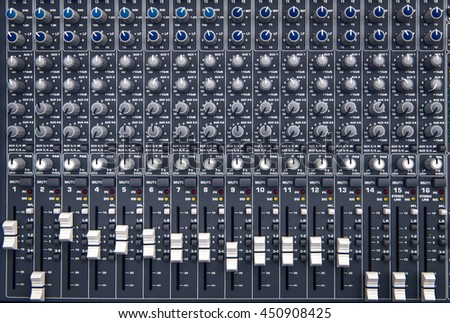 equipment for sound mixer...