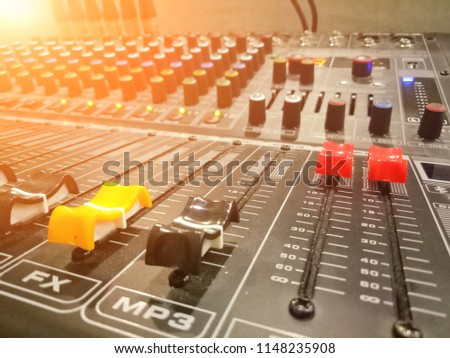 equipment for sound mixer control voice and music / electronic device #1148235908