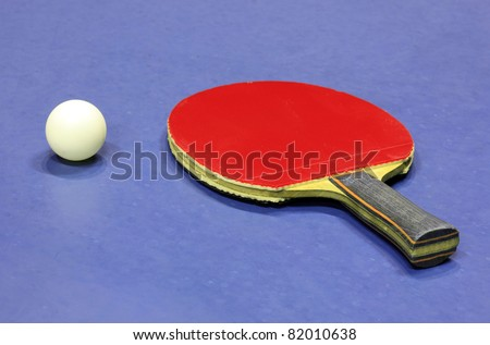 Equipment for table tennis - racket and ball