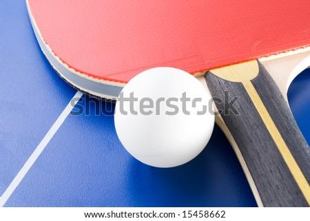 Equipment for table tennis - racket, ball, table. 4