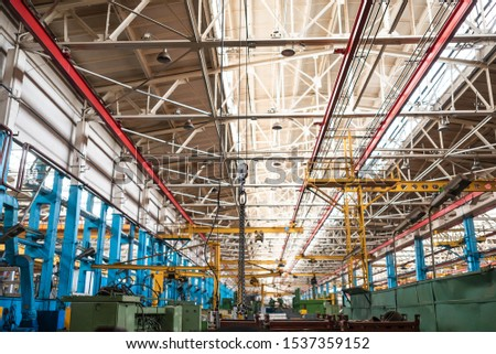 Equipment for the production of cars on the background of production #1537359152