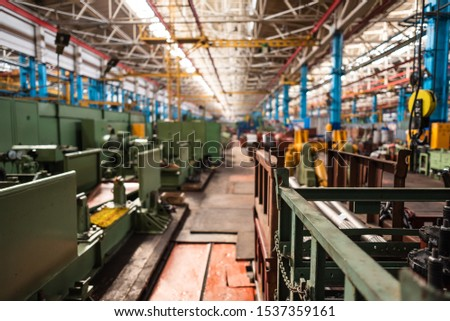 Equipment for the production of cars on the background of production #1537359161