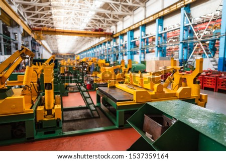 Equipment for the production of cars on the background of production #1537359164