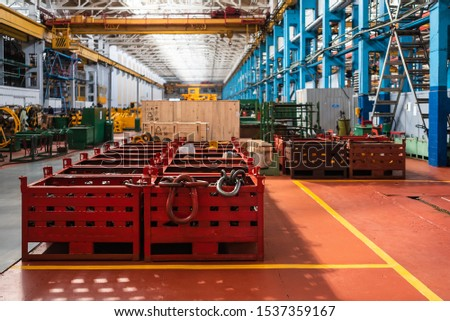 Equipment for the production of cars on the background of production #1537359167