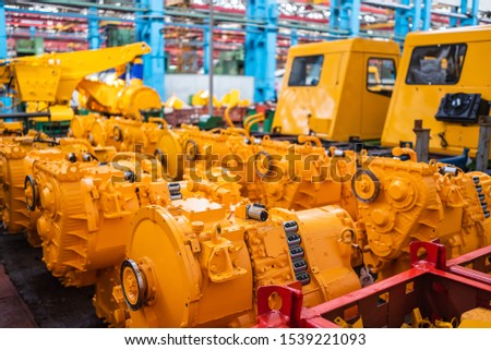 Equipment for the production of cars on the background of production #1539221093