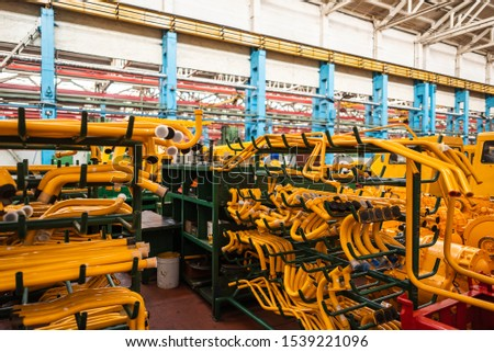 Equipment for the production of cars on the background of production #1539221096