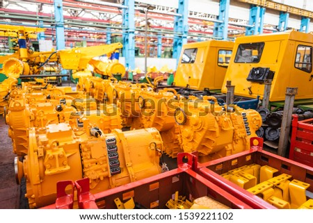Equipment for the production of cars on the background of production #1539221102