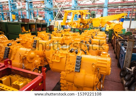 Equipment for the production of cars on the background of production #1539221108