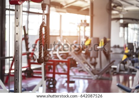 Equipment gym for training