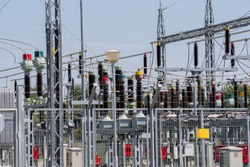 Equipment in an electrical sub station in a power grid