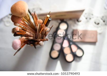 Equipment of makeup artist #1053790493
