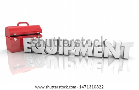 Equipment Toolbox Resources Word 3d Illustration