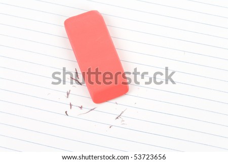 Eraser close up shot, concept of making change