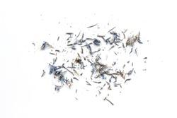 eraser dust on white background