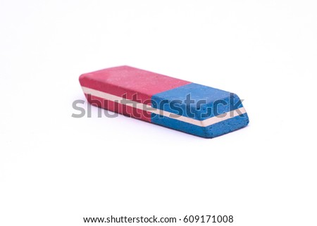 Eraser Isolated on White Background #609171008