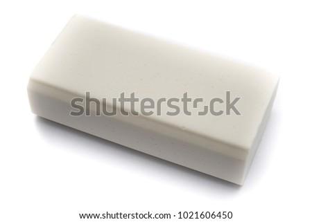 Eraser on white background, isolated