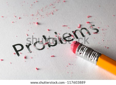Erasing problems - stock photo