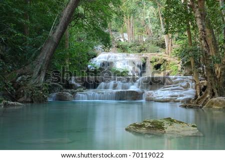Erawan Waterfall ,Erawan National Park, Kanchanaburi, Thailand