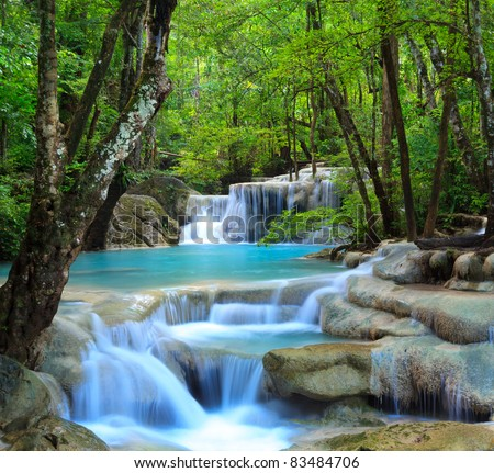 Erawan Waterfall, Kanchanaburi, Thailand #83484706