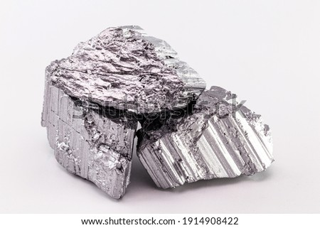 Erbium is a chemical element with the symbol Er, part of the group of rare earths, metallic additive or neutron absorber Foto stock ©