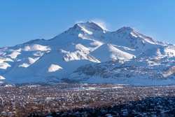 Erciyes Mount with height of 3,864 metres is the highest mountain in Cappadocia and central Anatolia. It is a volcano. Hacilar city