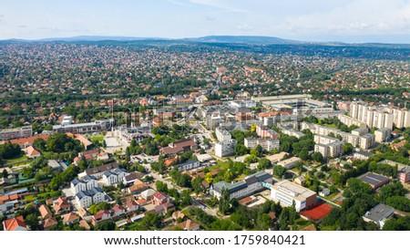 Erd, Hungary aerial view in summer.  Stock fotó ©