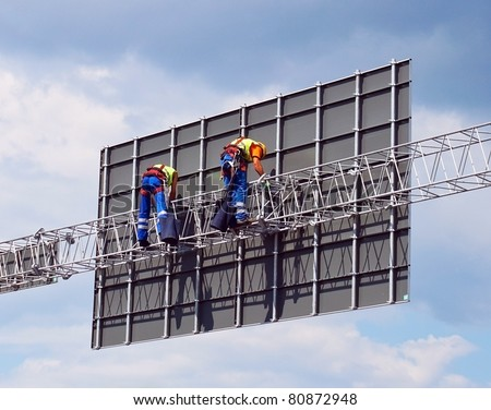Erectors on the metal construction