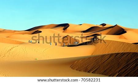 erg chebbi dunes in morocco