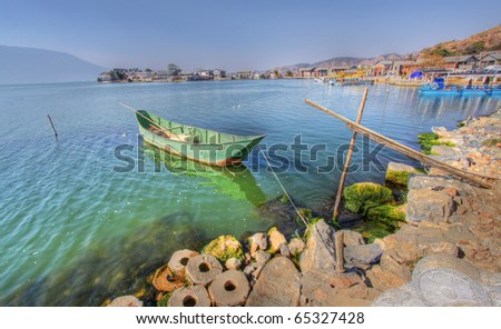 erhai lake dali yunnan china - stock photo