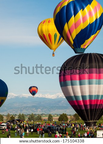 Erie, Colorado-May, 20, 2012: Annual Erie Town Fair and Balloon Festival. The balloon event is part of a day long street fair in the town of Erie. - Shutterstock ID 175104338