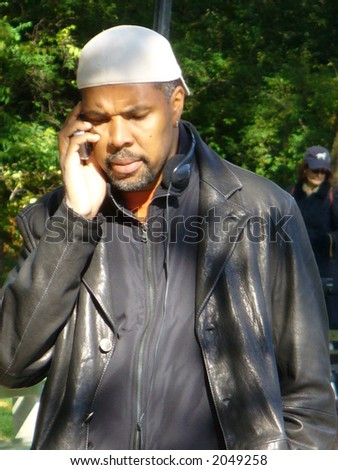 Eriq La Salle directing an espisode of Law & Order: Special Victims Unit in New York City(visible Noise at Full Size)