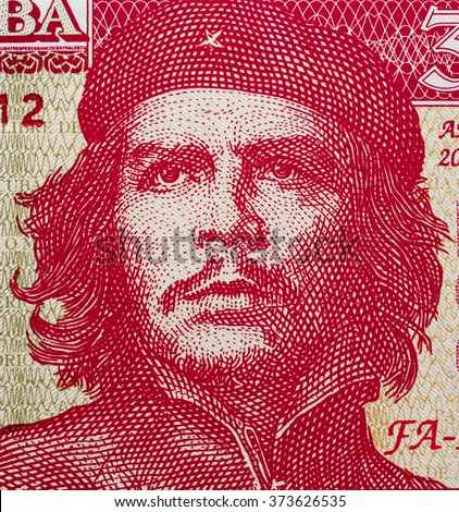 Shutterstock Ernesto Che Guevara portrait on Cuban 3 pesos banknote close up macro, Cuba money closeup