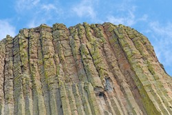 Eroded Column Details at the top of Devils Tower in Devils Tower National Monument in Wyoming
