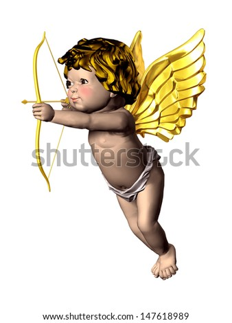 Eros Cupid with bow and arrow